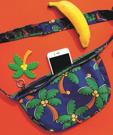 WIGGLE WIGGLE/Waist Bag Plam