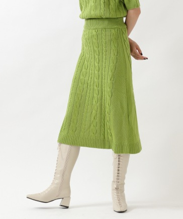 ROCKET×LUNCH/CABLE MIX KNIT SKIRT