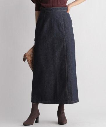 レースアップデニムスカート