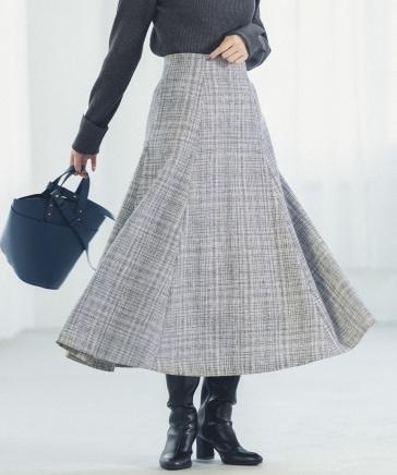 【一部予約/WEB限定カラー】ツイードフレアスカート
