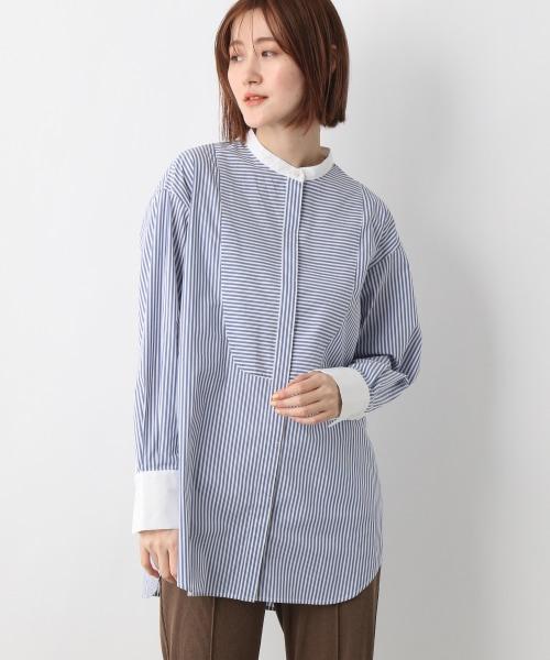 SC*バンドカラーシャツ