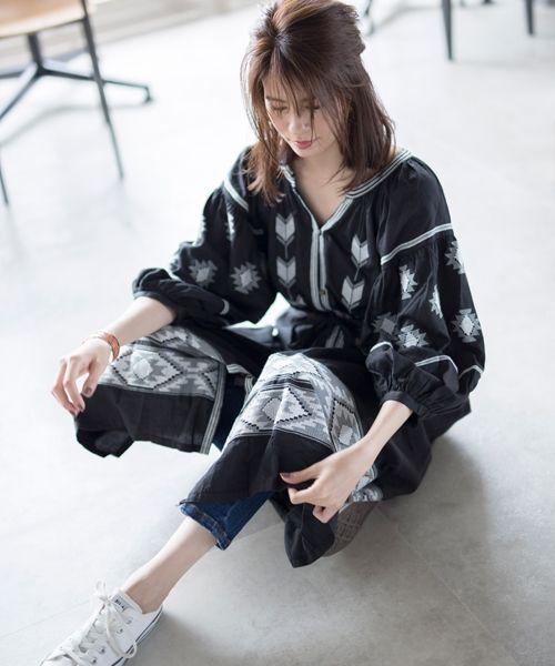 77df359764b3e ... 刺繍ハオリワンピース. 商品詳細イメージ ...