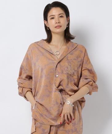 リーフプリントカイキンシャツ