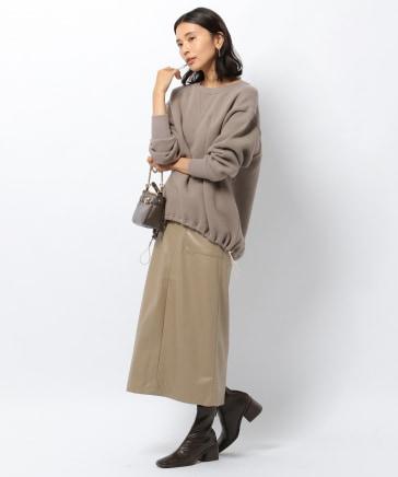 ≪WEB限定≫フェイクレザータイトスカート
