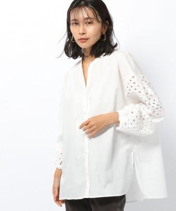 ≪WEB限定≫スリーブレース切り替えシャツ