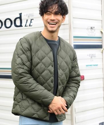 【A WARMER】2WAYノーカラーヒートジャケット