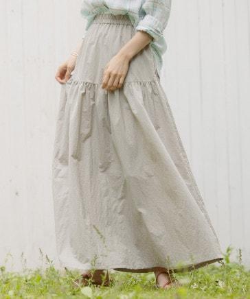 タフタギャザースカート
