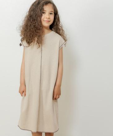 [KIDS]ハニカムカットソーワンピース