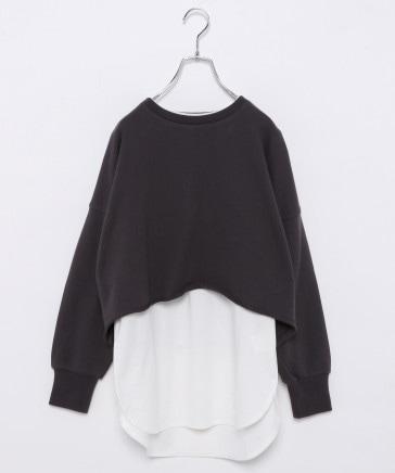 【AND YUA ANY】柔らかショートスウェット×Tシャツ長袖
