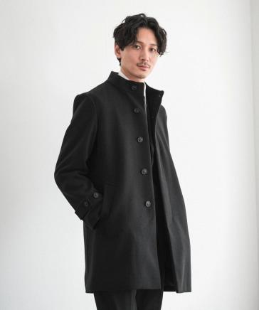 【ウーリーテック】スタンドカラーコート