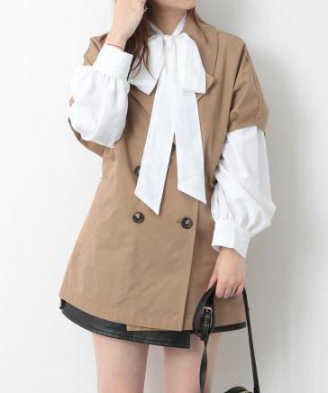 【WEB限定価格】ポンチョベストコート