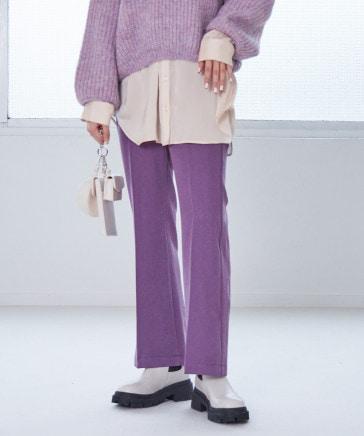 【XS~Lサイズ/10/12一部カラー50%OFF】スリムフィットフレアパンツ
