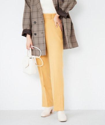 【XS~Lサイズ/10/12一部カラー50%OFF】スリムフィットストレートパンツ