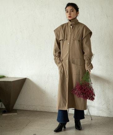 【eL】Big Yoke Long Coat