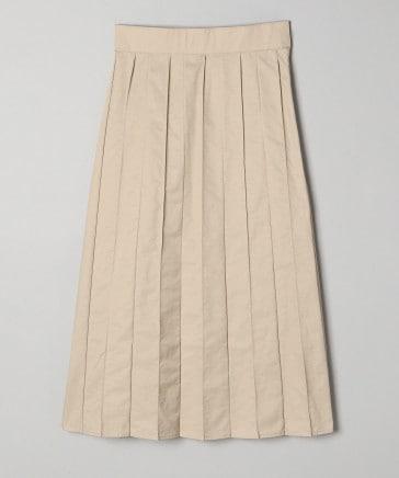 コットンナイロンピンタックプリーツスカート