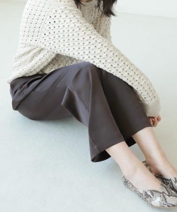 【9/2ヒルナンデス紹介】ストレッチサテンピンタックパンツ