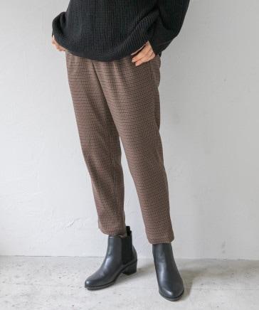 嬉しい機能が付いたチェックテーパードパンツ[2021秋冬]【ハタラク7DAYSパンツ】