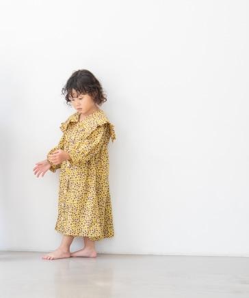 【KIDS】フリルエリワンピースLS