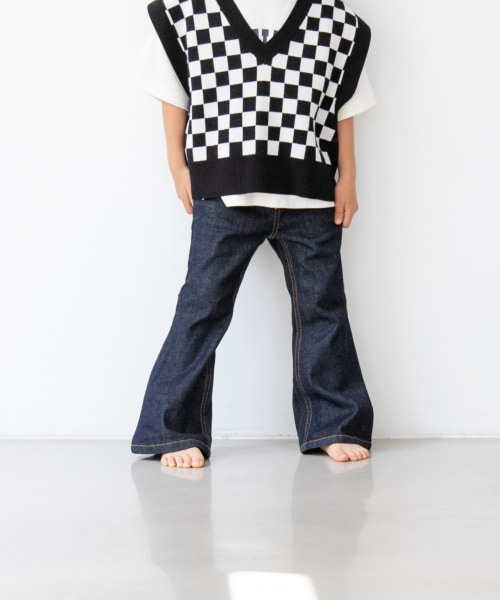 【KIDS】CONEデニムフレアパンツ