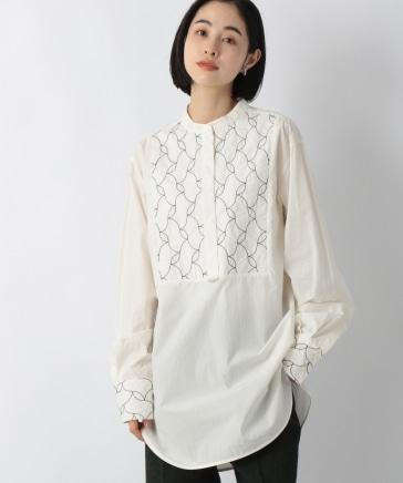 シシュウドレスシャツLS