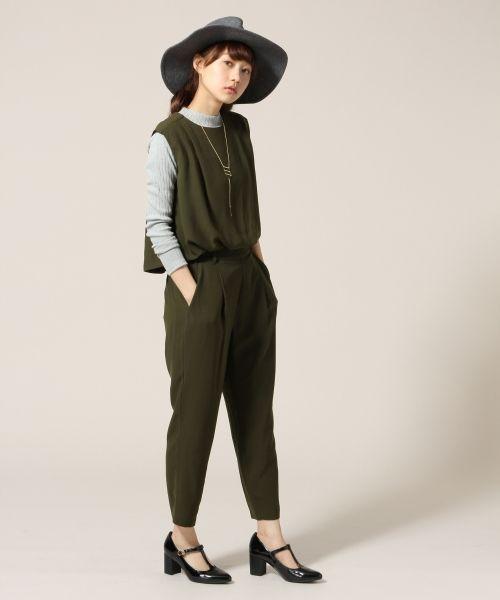 eda0cbc6cecd6 ☆セットアイテム☆ノースリーブブラウス&テーパードパンツ