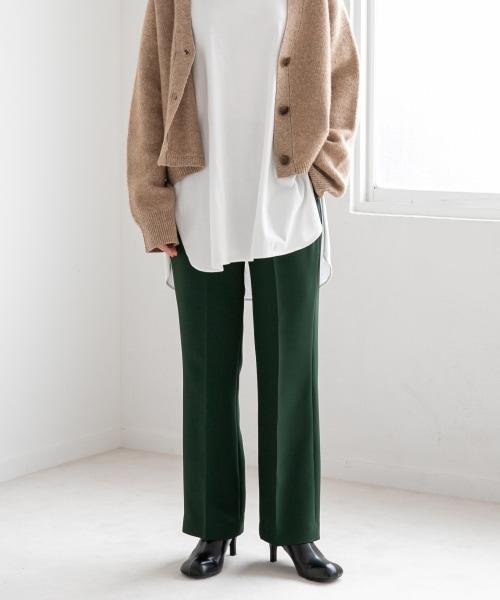 【カラー予約受付中】美脚に見えるカラーフレアパンツ