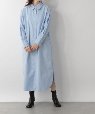 【yuw】プリプリシャツワンピース