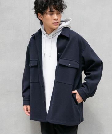 【MENS】ウーリーテックBIGシャツジャケット