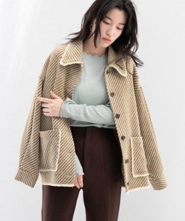ツィードシャツジャケット