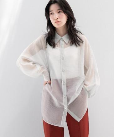 シャンブレーシアーシャツLS