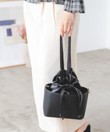 ボックスIN巾着バッグ