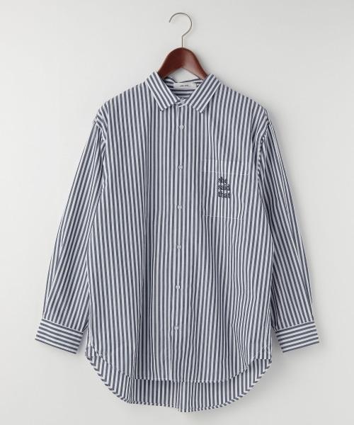 【she said that(シー セッド ザット)】コラボストライプビッグシャツ