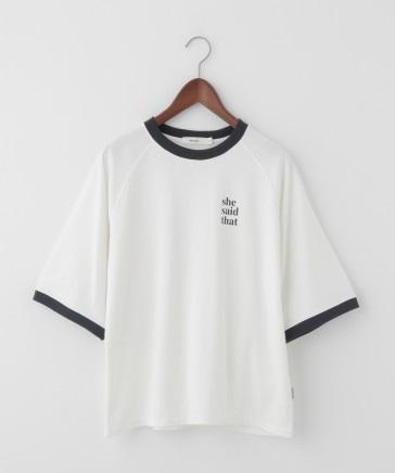 【she said that(シー セッド ザット)】コラボビッグリンガーTシャツ