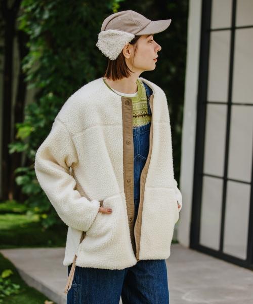 【10/19ラヴィットOA放映アイテム】WARM BOAクルーネックボアジャケット