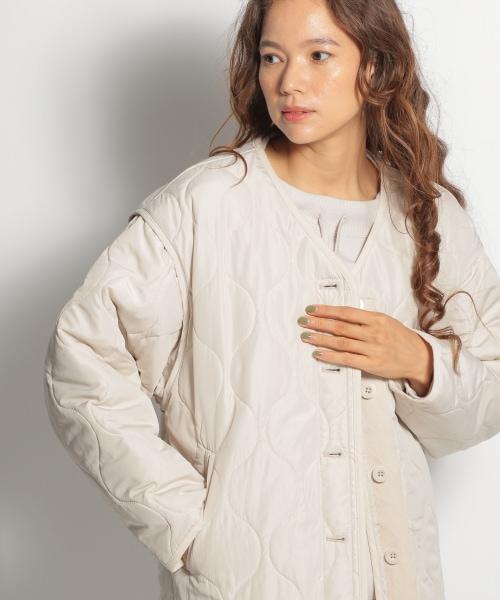 洗えるマルチキルティングジャケット