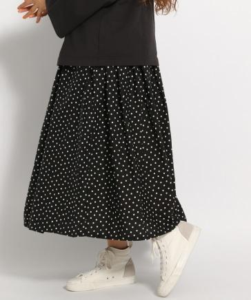 【ichi(イチ)】ランダムドットスカート