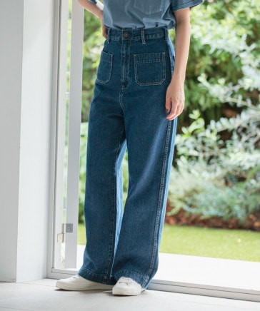[niko and ...JEANS 2021AW]リラックスマリンデニムパンツ