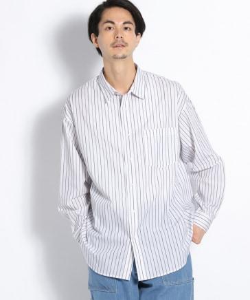オーバーサイズストライプシャツ