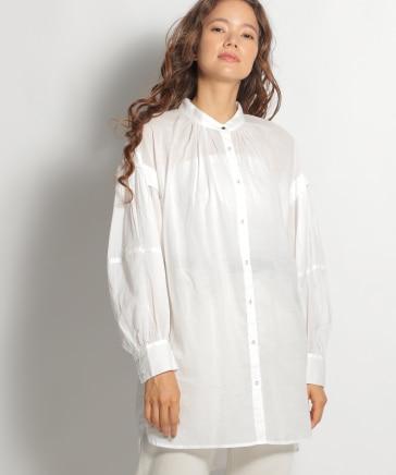 [マイナビ TGC 2021A/W 着用アイテム]80ボイルタックロングスリーブチュニックシャツ