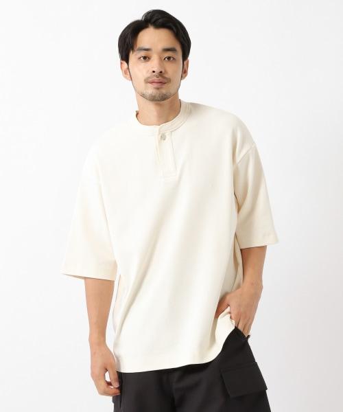 オーガニックコットンヘンリーTシャツ半袖