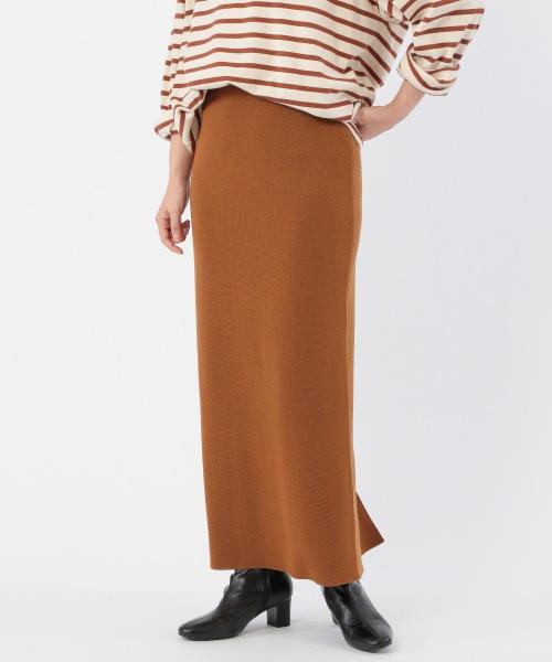 100%メリノウールニットタイトスカート