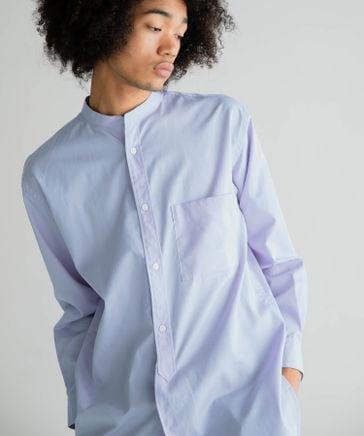 【BCI認証コットン】バンドカラーロングシャツ (ユニセックス)