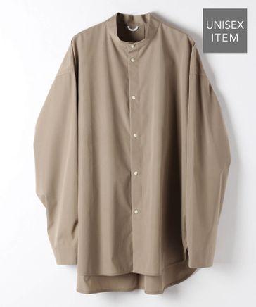 【BCI認証コットン】バンドカラーシャツ (ユニセックス)
