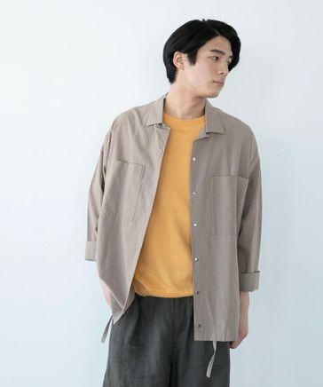 【再生繊維リヨセル】オープンカラーシャツ