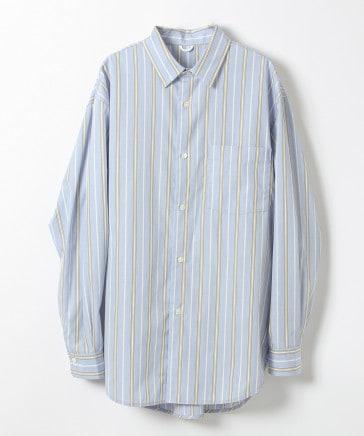 【BCI認証コットン】レギュラーカラーストライプシャツ (ユニセックス)