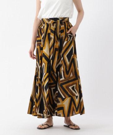 【高自然土壌生分解】DEVEAUXプリントスカート