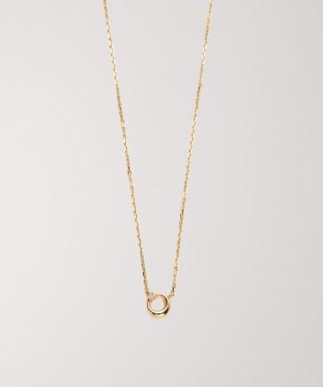 【予約】【Briller】K10ムーンプチダイヤモンドネックレス