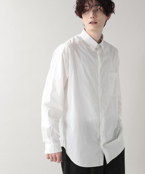 ブロード無地/セミロングシャツ