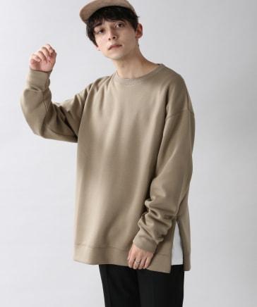 ダンボール/裾ZIPストレッチクルー
