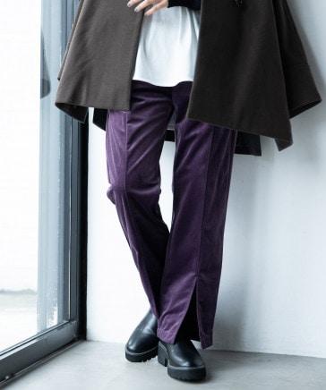 【WOMENS】ラグイージー/ベルベットスリットパンツ